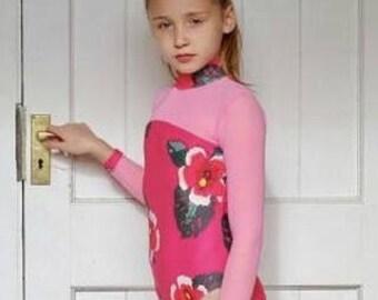Eden Dancewear Girls Tropical Long-Sleeved Leotard