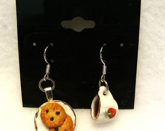 Coffee and cookies earrings