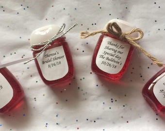 Baby shower hand sanitizer favors beautiful for Hand sanitizer bridal shower favors