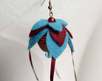Fuchsia Flower Earrings