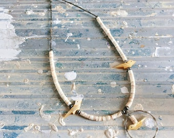 Vintage Boho Mid Century Bird Necklace