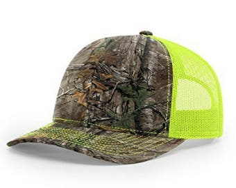Richardson Kryptek Realtree-Camo: Xtra/Neon Yellow 112P Printed Trucker