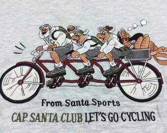 Santa Sports Lets Go Cycling Sweatshirt