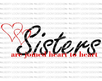 Sisters are joined heart to heart