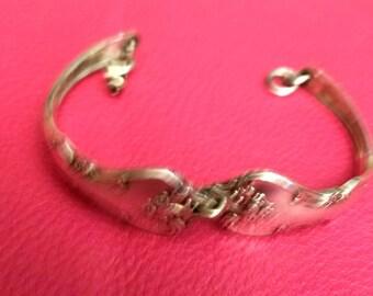Sterling spoon link bracelet
