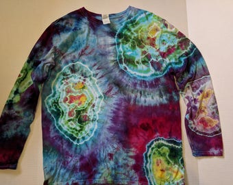Vibrant geode hand-dyed shirt
