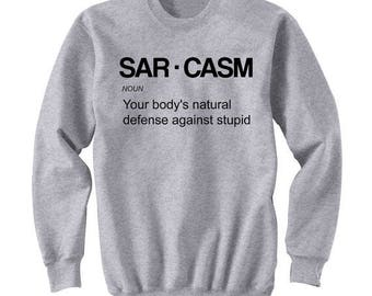 women winter hoodie, Sarcasm LogoSAR.CASM Unisex Tumblr Shirt Gifts for Teen boys Girls pullovers Fashion Trending Hipster  Tops sweatshirts