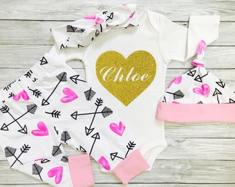 Baby Girl Clothes, Baby Girl Coming Home Outfit, Winter Baby Clothes, Baby Girl, Baby Clothes Girl, Coming Home Outfit Baby Girl