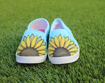 "Sunflower shoes - ""Sunshine"" design"