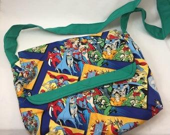 Ipad Messenger Bag - DC Super Heroes