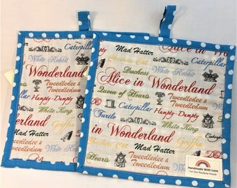 Alice in Wonderland Potholders