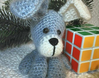 Crochet dog, Knitted puppy, Amigurumi dog, Christmas gift, Gift 2018 year, Stuffed toy, Soft dog, New year 2018 symvol, Gifts for friends
