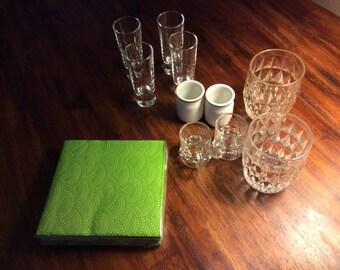 Shot glass set & bar set