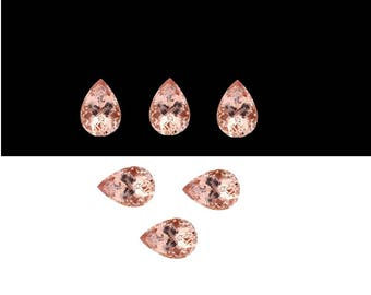 Natural Morganite Pear Shape Faceted Cut, 4x6mm to 10x12mm Morganite Cut Pear, Morganite Pendant, Morganite Ring