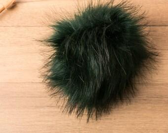 Pompon en fausse fourrure 5 cm