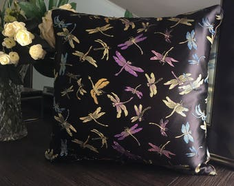 Lucky Dragonflies - Cushion Covers (Black)