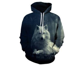 Wolf Hoodie, Wolf, Wolf Hoodies, Animal Prints, Animal Hoodie, Animal Hoodies, Wolves, Hoodie Wolf, Hoodie, 3d Hoodie, 3d Hoodies - Style 31