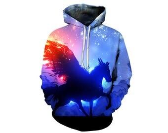 Unicorn Hoodie, Unicorn, Unicorn Hoodies, Animal Prints, Animal Hoodie, Animal Hoodies, Unicorns, Hoodie, 3d Hoodie, 3d Hoodies - Style 1