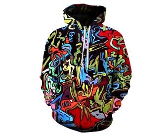 Paint Splat, Paint Hoodie, Painted Sweatshirt, Painting Clothes, Hoodie Art, Hoodie Pattern, Pattern Hoodie, Hoodie, 3d Hoodie - Style 8