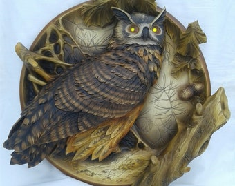 3d wood decorative plate