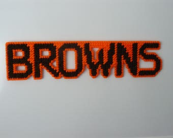 BROWNS in Handmade Needlepoint Sports Magnets