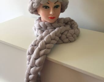 Scarf long Merino wool chunky scarf scarves grey thick scarf wooly scarf wooly scarves scarves galore warm scarf Christmas