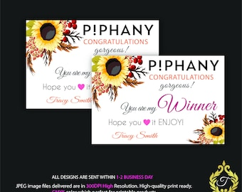Piphany Winner Card, Piphany Winner Discount, Piphany Winner, Personalized Piphany, Piphany Marketing - Printable Card, Digital file PP02