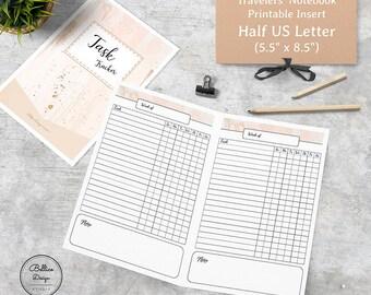 Planner Half Size, 5.5 x 8.5 Planner Printables, Task Planner, Weekly To Do List Printable, Weekly Tracker Printable, Minimalist Planner