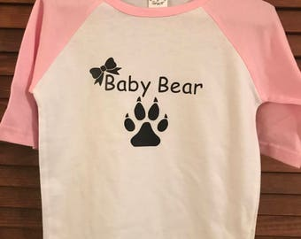 Baby Bear Toddler Baseball TShirt