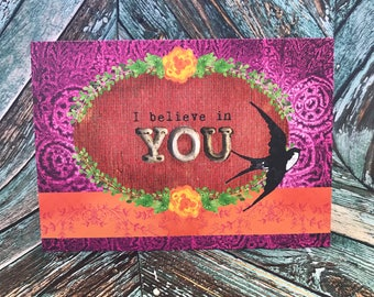 5x7 Believe in You Greeting Card
