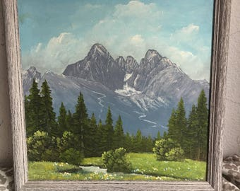 Two Paintings of Tatras Mountains in Slovak by Hyclák