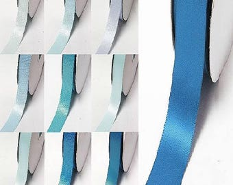 "Yama brand blue 346 -371 double faced satin ribbon By the 5 or 100 Yards Top Quality Silky Ribbon 3/8"",2/1"",7/8"",1"",1.5"",2"",2.5"",3"" 28800"