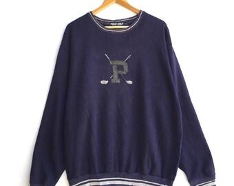 RARE!!! Vintage Polo Golf Ralph Lauren Sweatshirt Colour Blue Size XLarge