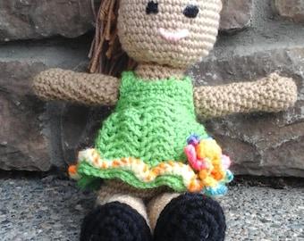 Hand crocheted dolls