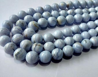Natural Loose Gemstones   Blue Less Agate cabochon Beads 12 mm