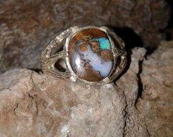 Sterling Silver Opal Ring S75