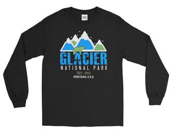 Glacier National Park Montana Long Sleeve T-Shirt