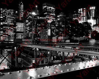 Skyline New York City,Brooklyn Bridge,Digital Art,  Art Prints or License for Art Prints