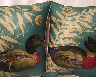 2 Duck Throw Pillows