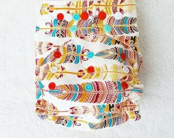 OS Feather Pocket Cloth Diaper/Diaper Cover