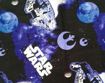 OS Blue Star Wars Cloth Pocket Diaper/ Diaper Cover/ AI2
