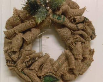 Re-purposed Coffer Sack Wreath