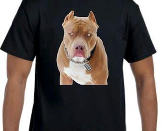 Karma is a Bitch T shirt, DTG T-shirt , Bitch T shirt, Men T-shirt, Women shirt, images. Funny Shirt, pitbull dog t-shirt, karma name tag