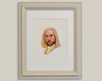 Charlie Kelly, Always Sunny, Lethal Weapon 5, Charlie Day, Celebrity Portrait, Gouache Painting, TV Art, It's Always Sunny in Philladelphia