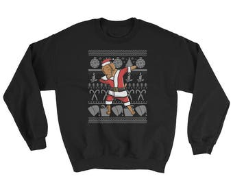 Funny Dabbing Vizsla Ugly Christmas Sweater Cute Dog Gift