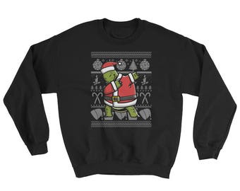 Funny Dabbing Tortoise Ugly Christmas Sweater Cute Pet Gift