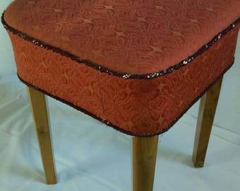 Vintge Mid Century  Cushion Stool / Ottoman / Foot Stool 60s