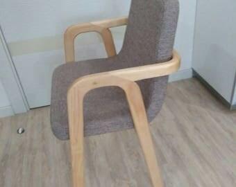 Chair made of beech (wood), handmade