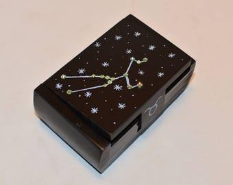 Taurus zodiac constellation box