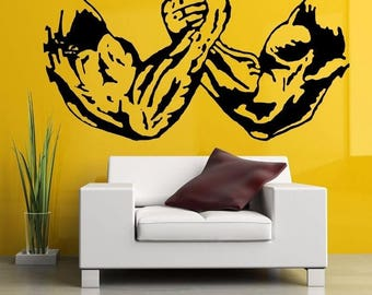 Arm wrestling bodybuilding fitness wall decals